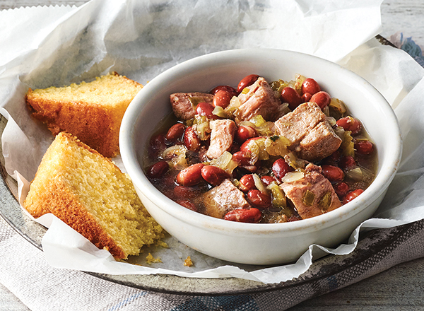 Creole Pork with Red Beans